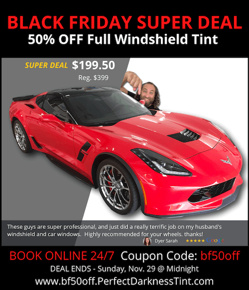 BLACK FRIDAY DEAL 50% OFF Windshield Tint – 3M Crystalline