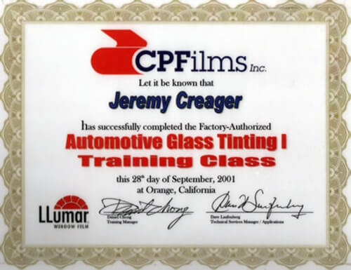 About Us - Automotive Glass Tinting