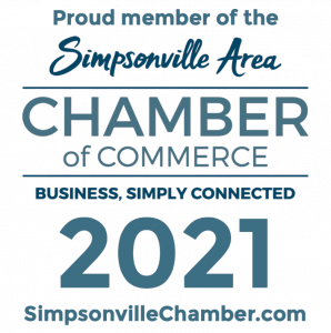 Proud member of the Simpsonville Chamber of Commerce